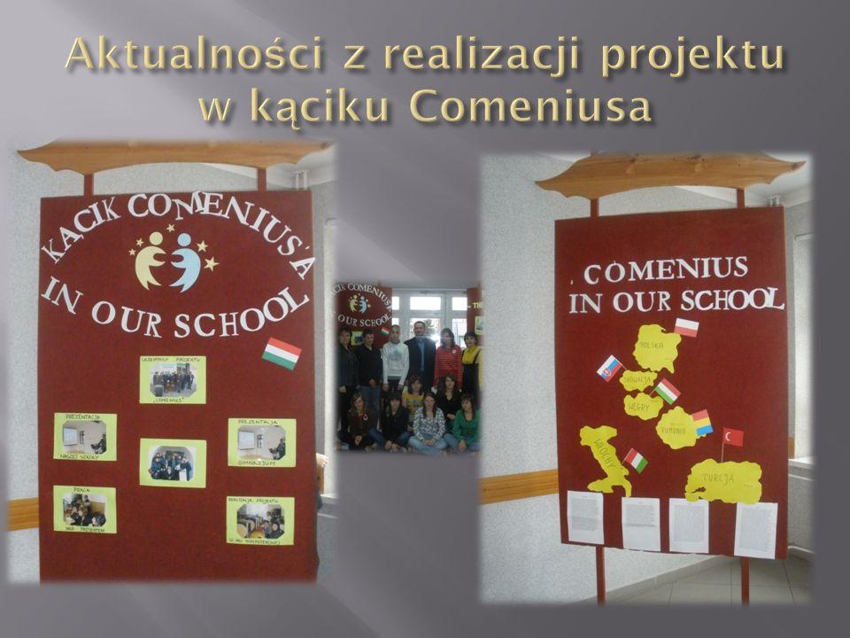 -W projekcie uczestniczą zarówno uczniowie jak i nauczyciele Gimnazjum w Horyńcu – Zdroju -Projekt ma na celu współpracę pomiędzy szkołami z różnych krajów europejskich, zdobywanie informacji o kulturze krajów, ich tradycjach, historii, doskonalenie wiedzy w zakresie własnego języka narodowego oraz języków obcych, zwiększanie motywacji uczniów do poszerzania swej wiedzy.
