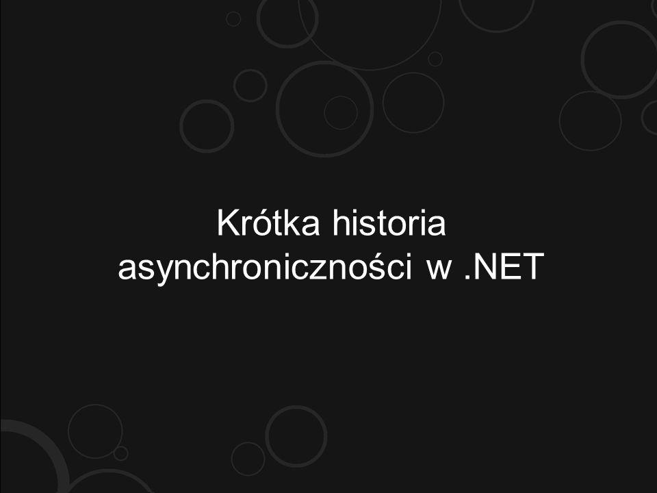 Krótka historia asynchroniczności w.NET