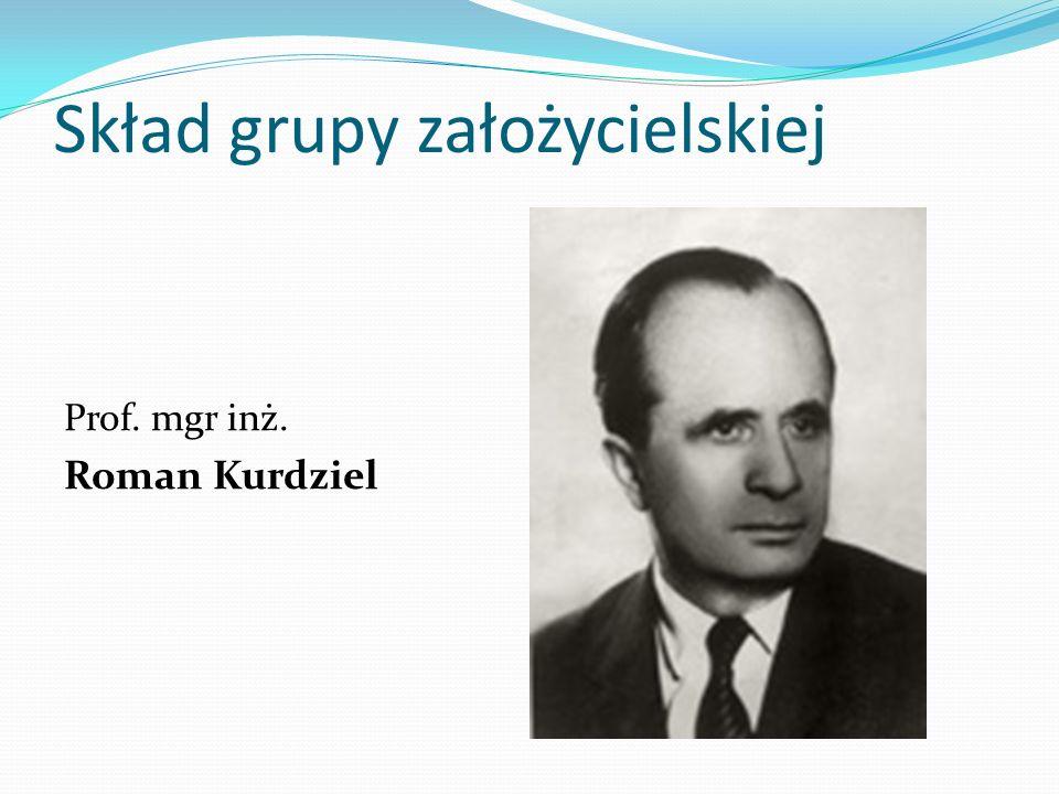 Skład grupy założycielskiej Prof. mgr inż. Roman Kurdziel