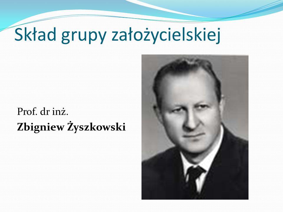 Skład grupy założycielskiej Prof. dr inż. Zbigniew Żyszkowski