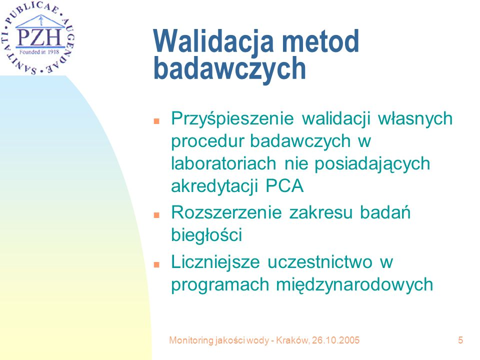 Monitoring jakości wody - Kraków, 26.10.20056 Aktualny system informatyczny n Aktualny system informatyczny WODA EXCEL nastręcza szereg problemów zarówno w PSSE jak i w WSSE n Problemy wynikają z niskiej kultury informatycznej operatorów oraz niedostatecznego nadzoru ze strony weryfikatorów w WSSE