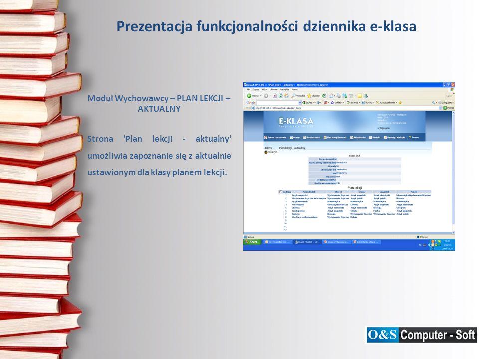 Prezentacja funkcjonalności dziennika e-klasa Moduł Wychowawcy – PYTANIA TESTOWE Strona Pytania testowe umożliwia wpisanie do systemu i edycję już wpisanych przez danego użytkownika pytań, które będą wykorzystywane przy generacji testów, przez wszystkich użytkowników systemu.