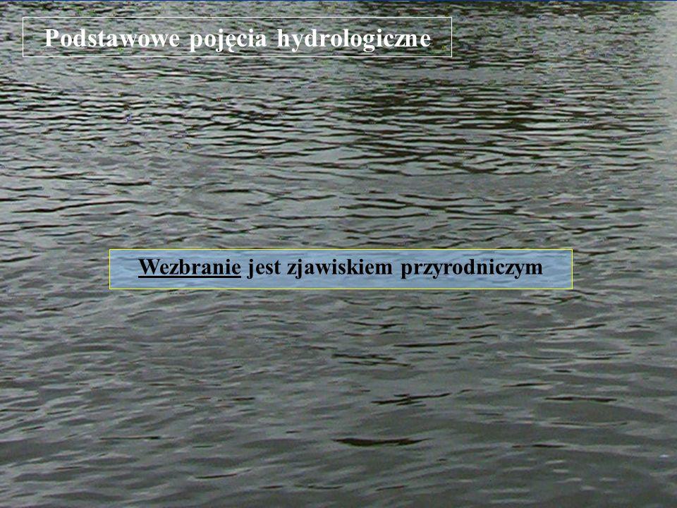 Podstawowe pojęcia hydrologiczne Wezbranie jest zjawiskiem przyrodniczym