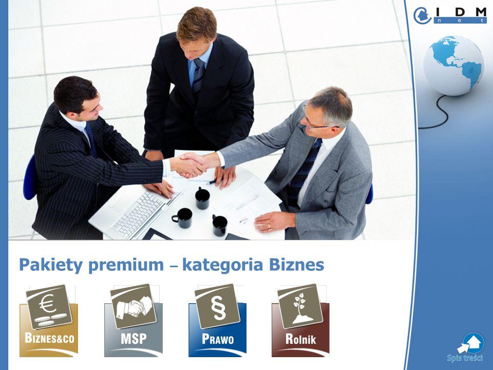 Pakiety premium – kategoria Biznes