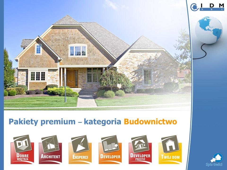 Pakiety premium – kategoria Budownictwo