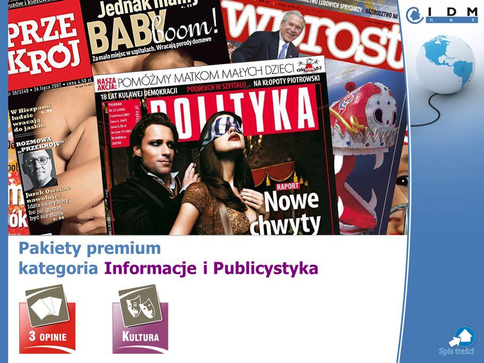 Pakiety premium kategoria Informacje i Publicystyka