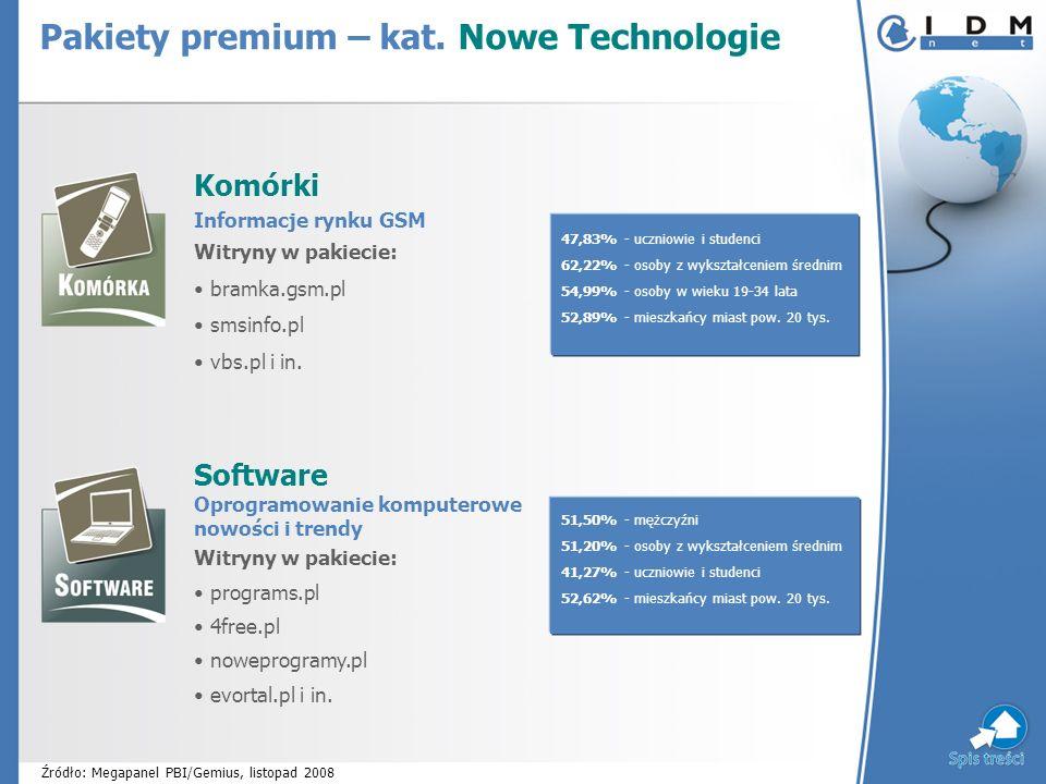 Komórki Informacje rynku GSM Witryny w pakiecie: bramka.gsm.pl smsinfo.pl vbs.pl i in.