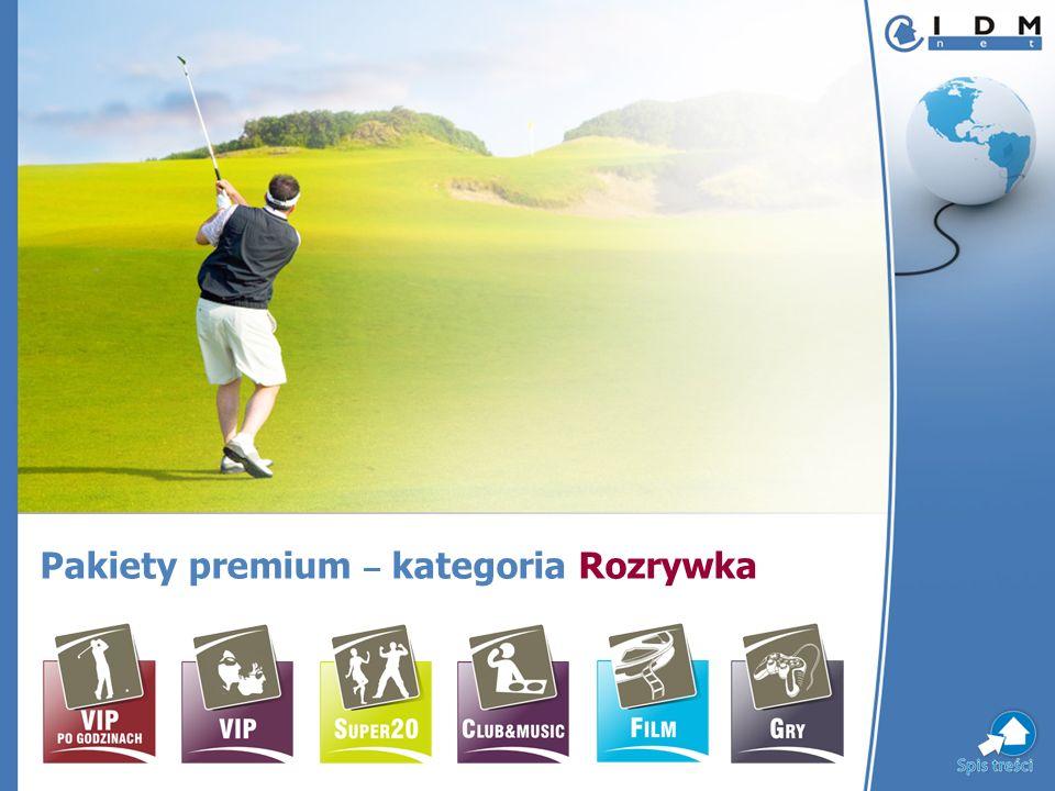 Pakiety premium – kategoria Rozrywka