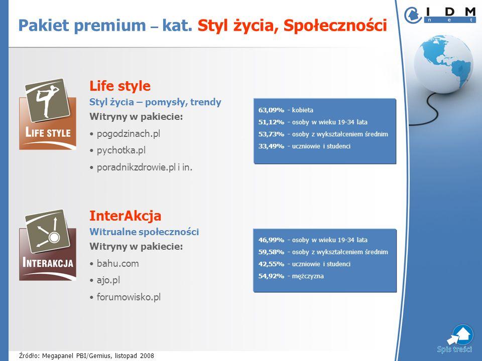 Life style Styl życia – pomysły, trendy Witryny w pakiecie: pogodzinach.pl pychotka.pl poradnikzdrowie.pl i in.