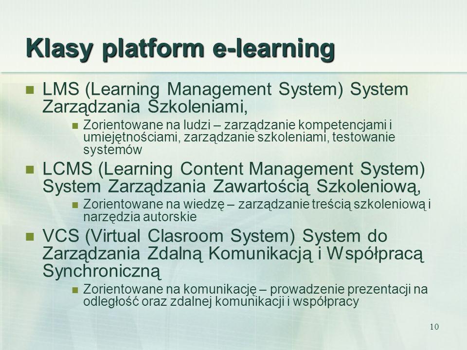 10 Klasy platform e-learning LMS (Learning Management System) System Zarządzania Szkoleniami, Zorientowane na ludzi – zarządzanie kompetencjami i umie