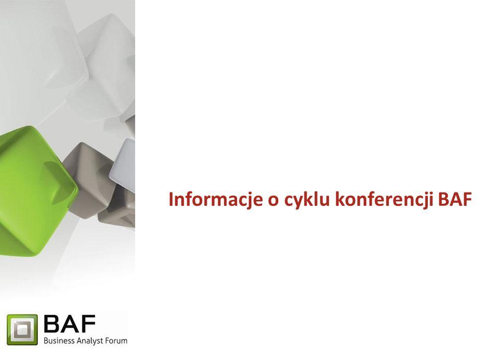 Business Analyst Forum Organizator Misją AION jest dostarczanie wiedzy i rozwiązań z zakresu analizy biznesowej oraz systemowej stymulującej organizacje do stałej poprawy prowadzonej działalności poprzez usprawnianie strategii, procesów biznesowych, jak i skuteczne oraz efektywne pozyskiwanie technologii informatycznych.