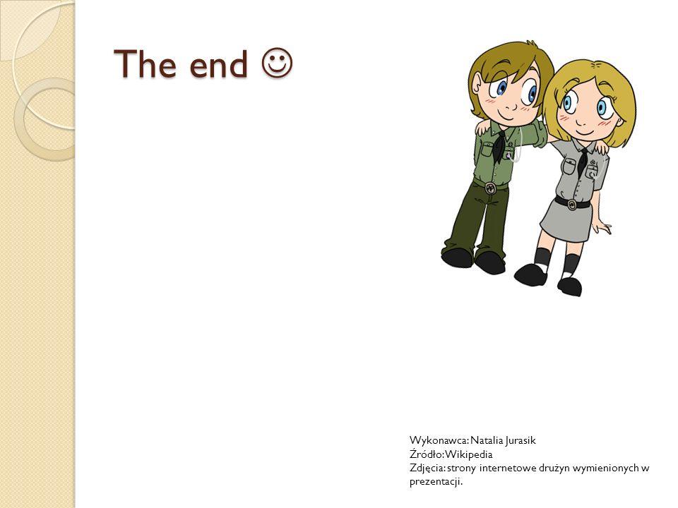 The end The end Wykonawca: Natalia Jurasik Źródło: Wikipedia Zdjęcia: strony internetowe drużyn wymienionych w prezentacji.