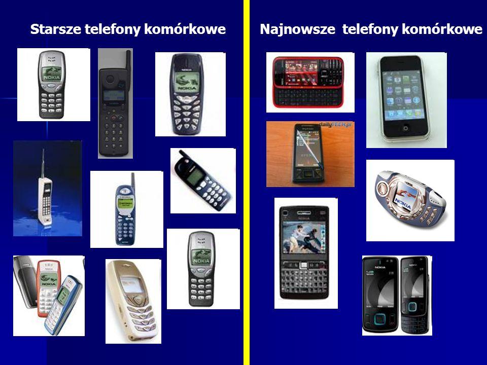 Starsze telefony komórkoweNajnowsze telefony komórkowe