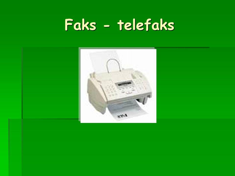 Faks - telefaks