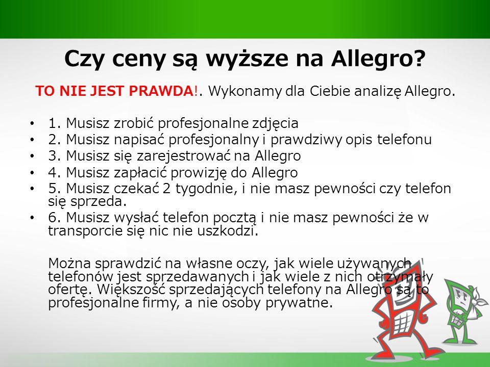 Czy ceny są wyższe na Allegro. TO NIE JEST PRAWDA!.