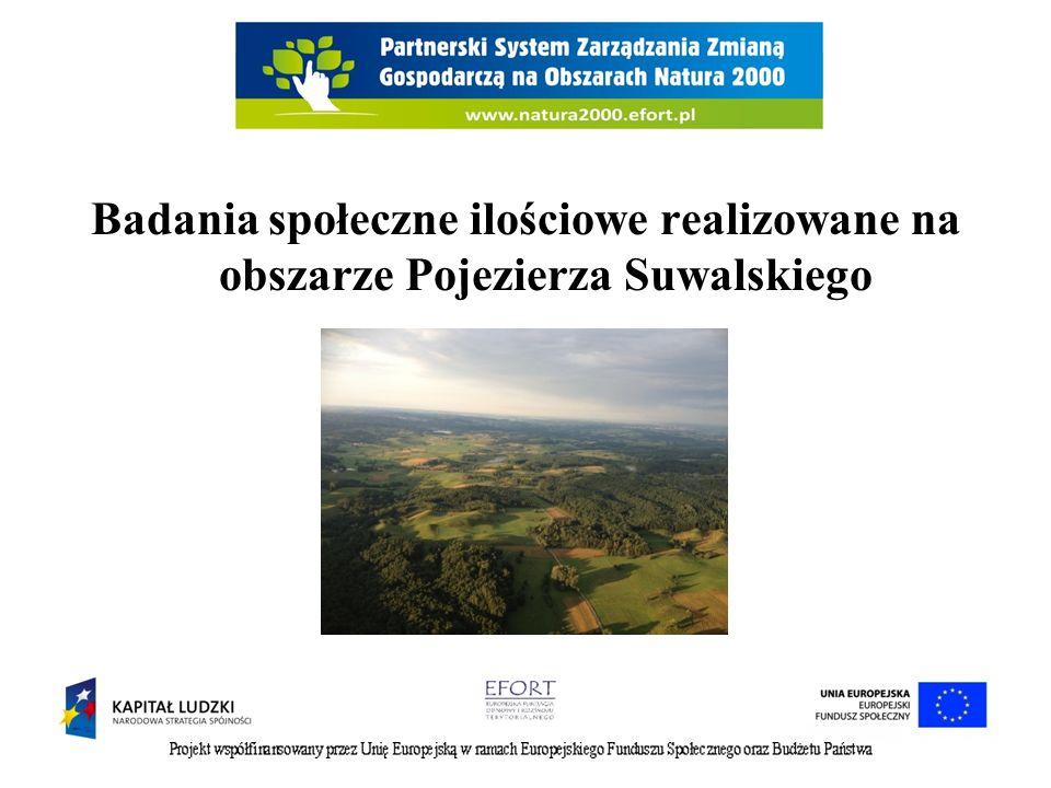 Badania społeczne ilościowe realizowane na obszarze Pojezierza Suwalskiego