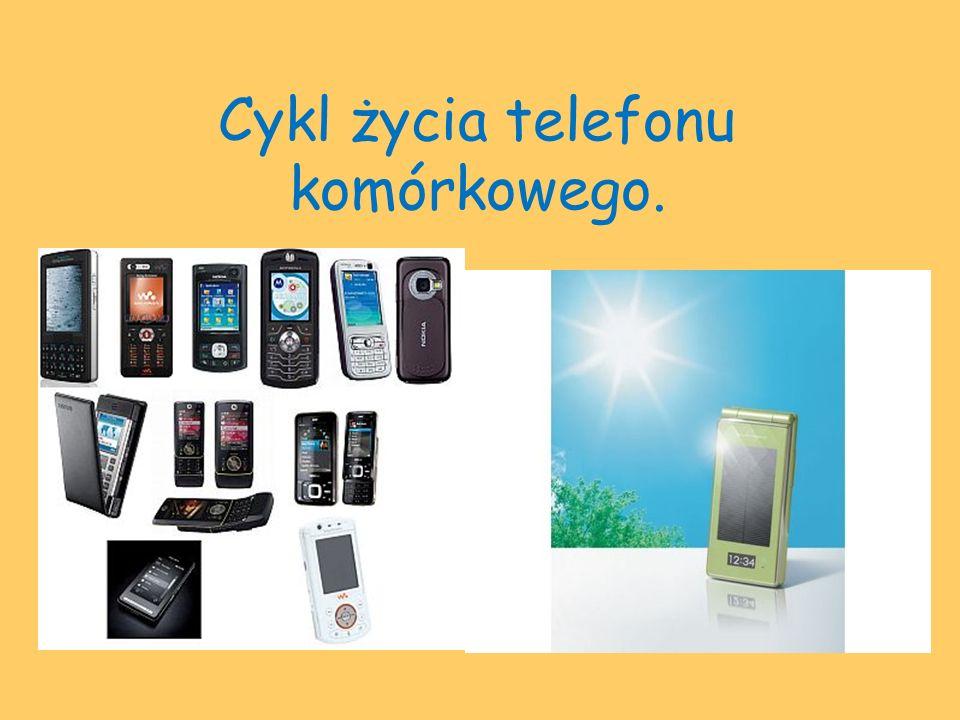 Cykl życia telefonu komórkowego.