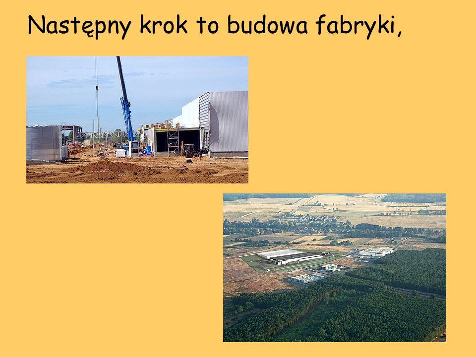Następny krok to budowa fabryki,