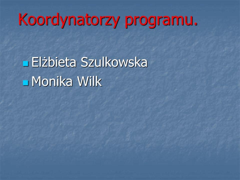 Koordynatorzy programu. Elżbieta Szulkowska Elżbieta Szulkowska Monika Wilk Monika Wilk