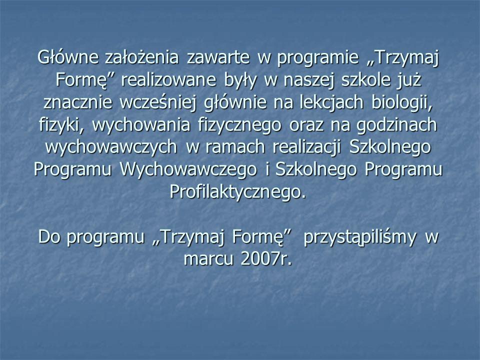 Działania podjęte w okresie od marca 2007r.do czerwca 2007r.