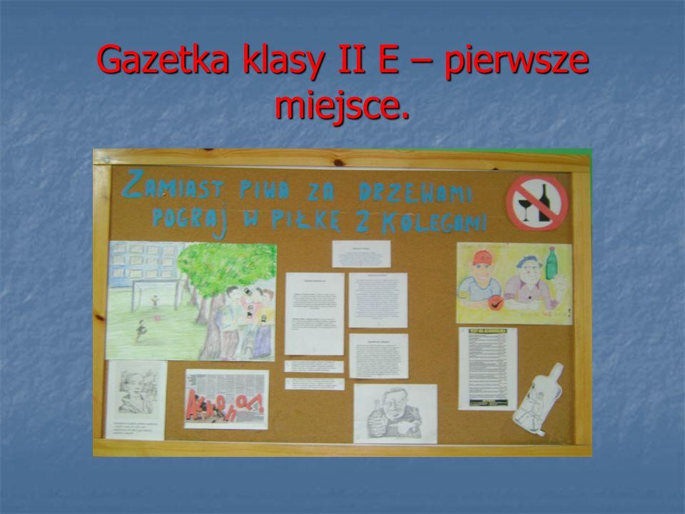 Gazetka klasy II E – pierwsze miejsce.
