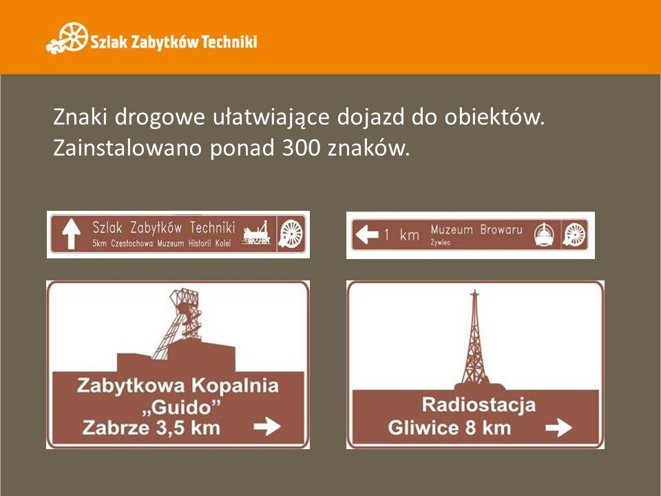 Znaki drogowe ułatwiające dojazd do obiektów. Zainstalowano ponad 300 znaków.