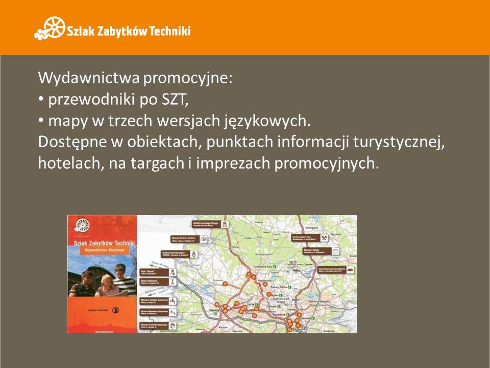 Wydawnictwa promocyjne: przewodniki po SZT, mapy w trzech wersjach językowych. Dostępne w obiektach, punktach informacji turystycznej, hotelach, na ta