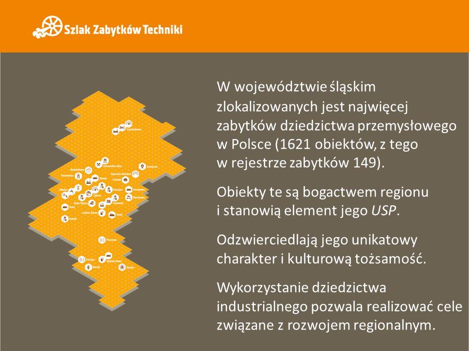 W województwie śląskim zlokalizowanych jest najwięcej zabytków dziedzictwa przemysłowego w Polsce (1621 obiektów, z tego w rejestrze zabytków 149). Ob