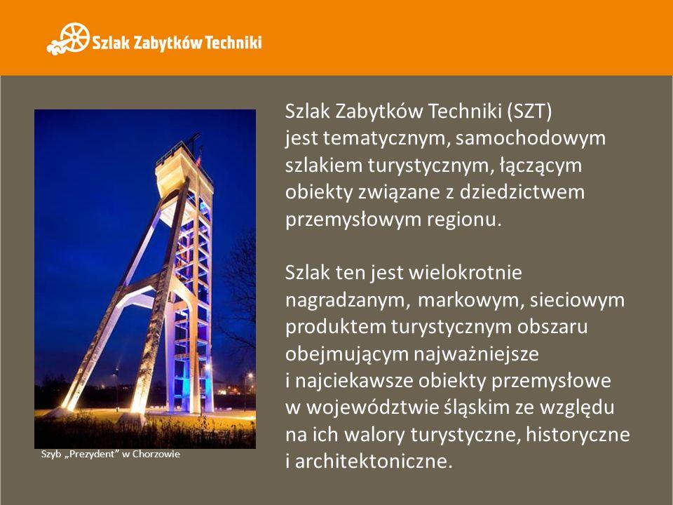 Szlak Zabytków Techniki składa się z 36 obiektów związanych z tradycją górniczą i hutniczą, energetyką, kolejnictwem, łącznością, produkcją wody oraz przemysłem spożywczym.