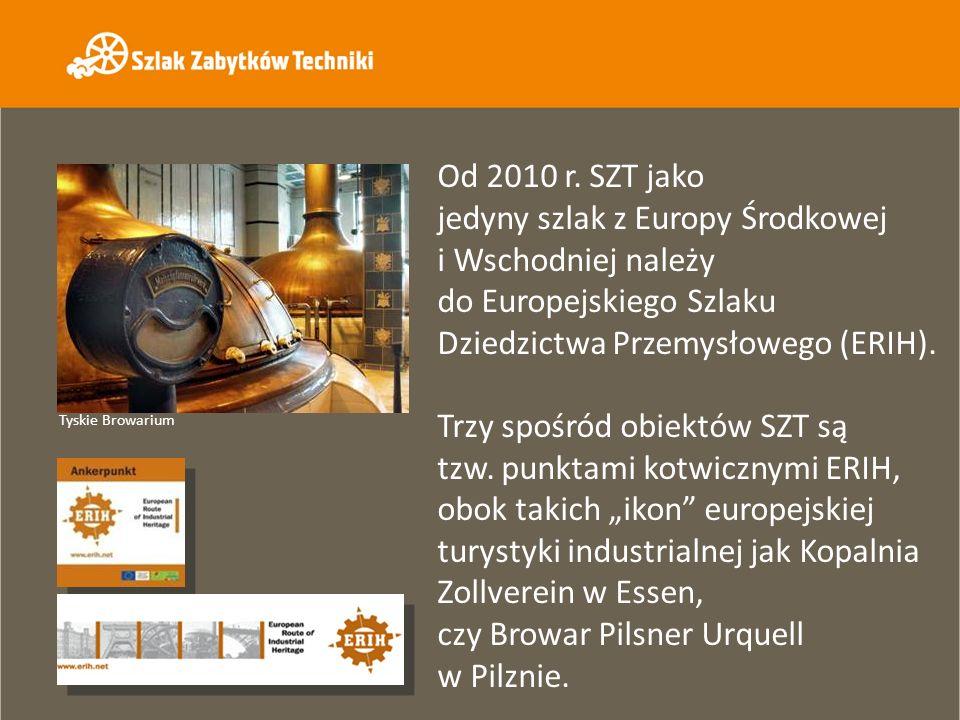 Od 2010 r. SZT jako jedyny szlak z Europy Środkowej i Wschodniej należy do Europejskiego Szlaku Dziedzictwa Przemysłowego (ERIH). Trzy spośród obiektó