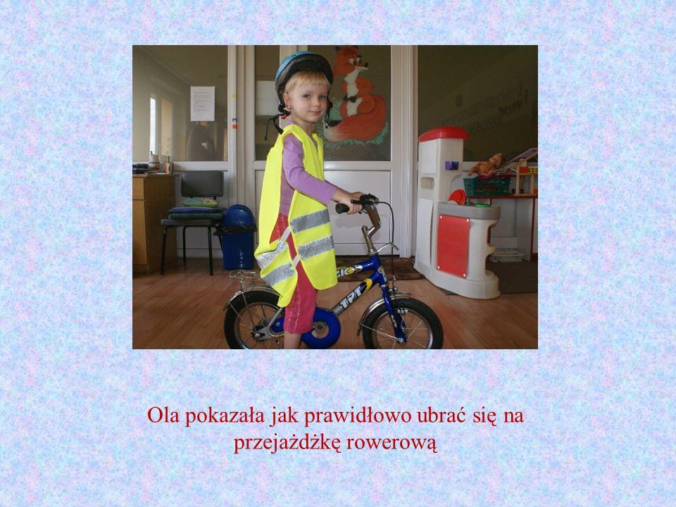 Ola pokazała jak prawidłowo ubrać się na przejażdżkę rowerową