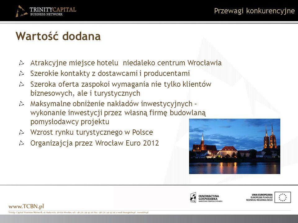 Atrakcyjne miejsce hotelu niedaleko centrum Wrocławia Szerokie kontakty z dostawcami i producentami Szeroka oferta zaspokoi wymagania nie tylko klient
