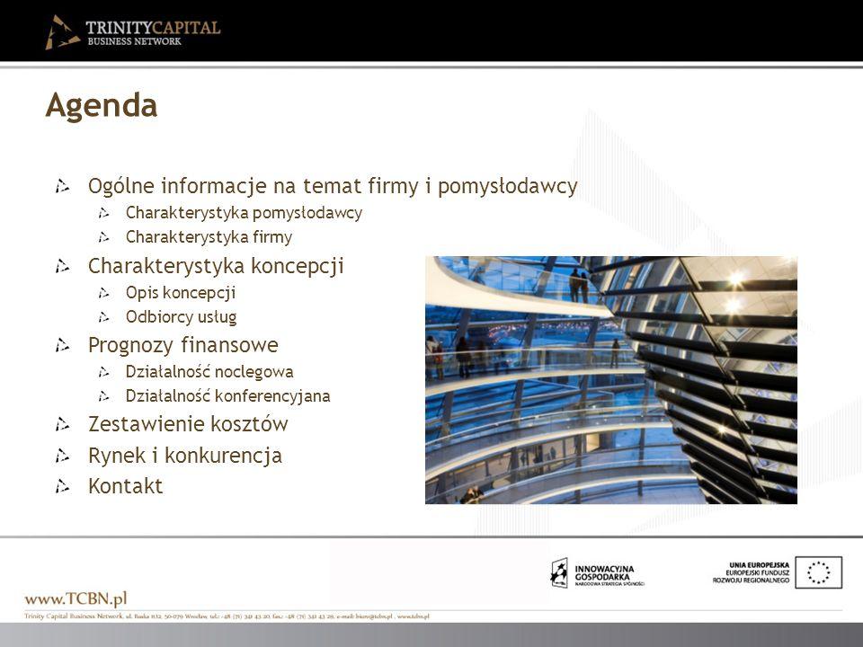 Agenda Ogólne informacje na temat firmy i pomysłodawcy Charakterystyka pomysłodawcy Charakterystyka firmy Charakterystyka koncepcji Opis koncepcji Odb
