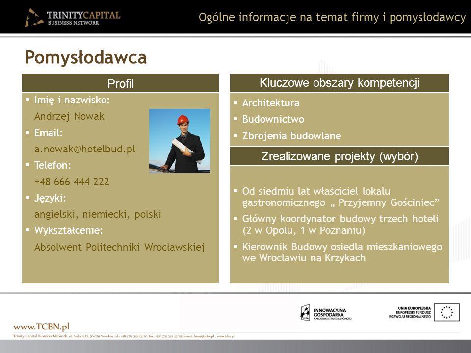 Profil Imię i nazwisko: Andrzej Nowak Email: a.nowak@hotelbud.pl Telefon: +48 666 444 222 Języki: angielski, niemiecki, polski Wykształcenie: Absolwen