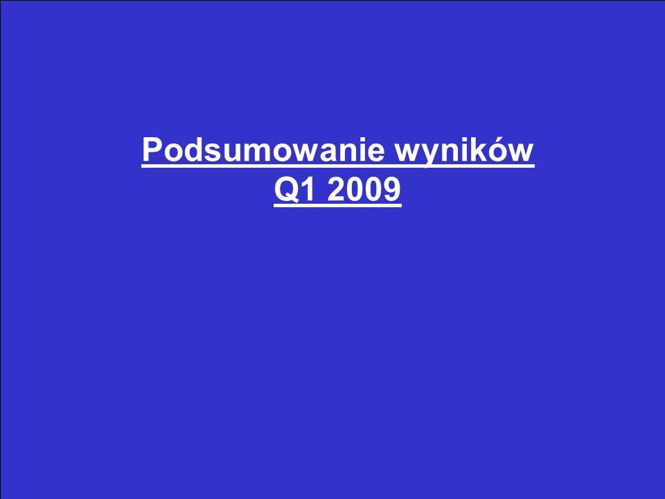 3 Podsumowanie wyników Q1 2009