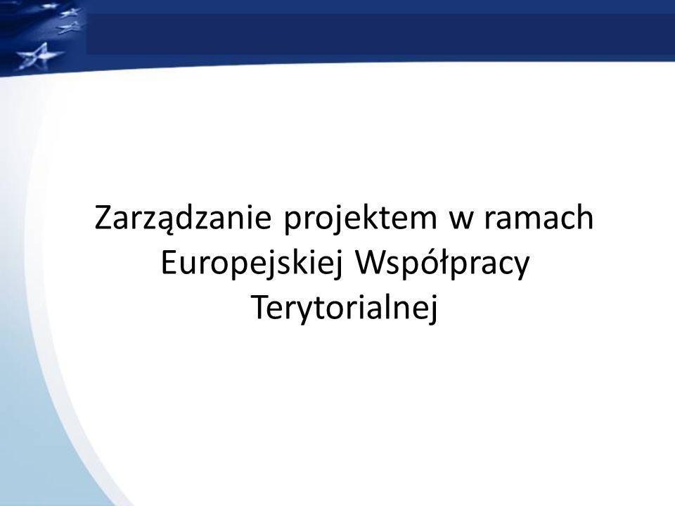 Zarządzanie projektem w ramach Europejskiej Współpracy Terytorialnej