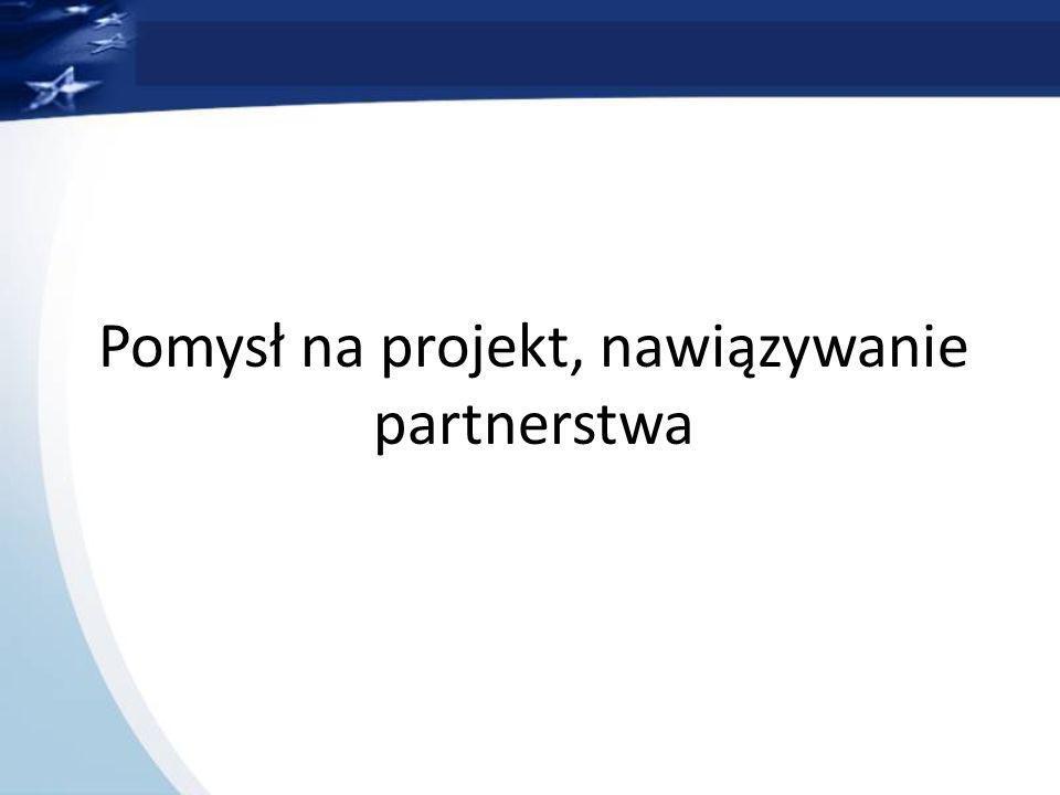 Pomysł na projekt, nawiązywanie partnerstwa