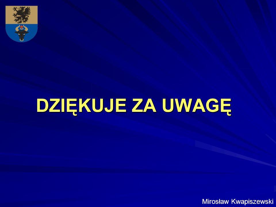 DZIĘKUJE ZA UWAGĘ Mirosław Kwapiszewski