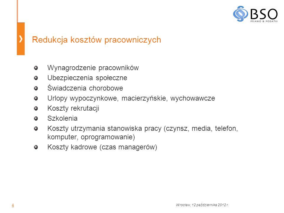 5 Outsourcing usług księgowych Przekazanie zadań księgowych przedsiębiorstwa firmie zewnętrznej Podniesienie jakości terminowość wykonania zadań zlecanie zadań drugorzędnych wyspecjalizowanym podmiotom korzystanie z kompetencji całej firmy Znaczna redukcja kosztów specjalistyczne oprogramowanie i literatura niezbędne konsultacje koszty pracownicze Zmniejszenie ryzyka Wrocław, 12 października 2012 r.