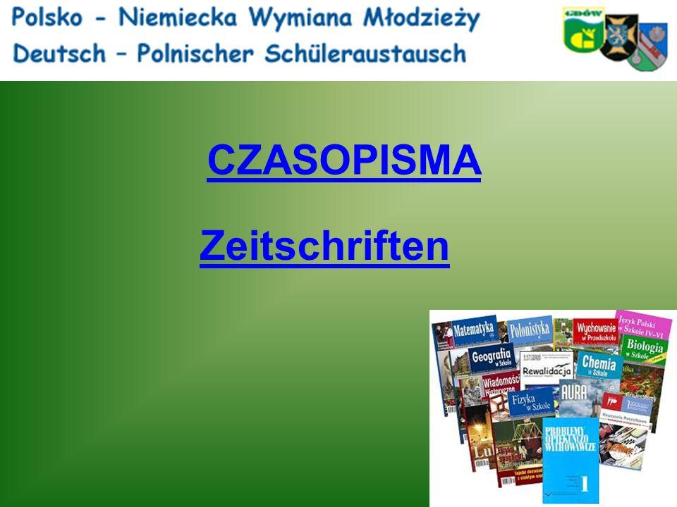 CZASOPISMA Zeitschriften