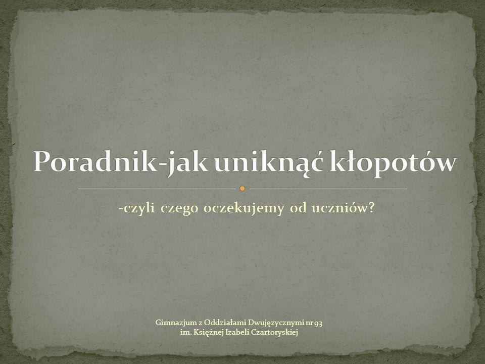 Gimnazjum z Oddziałami Dwujęzycznymi nr 93 im.