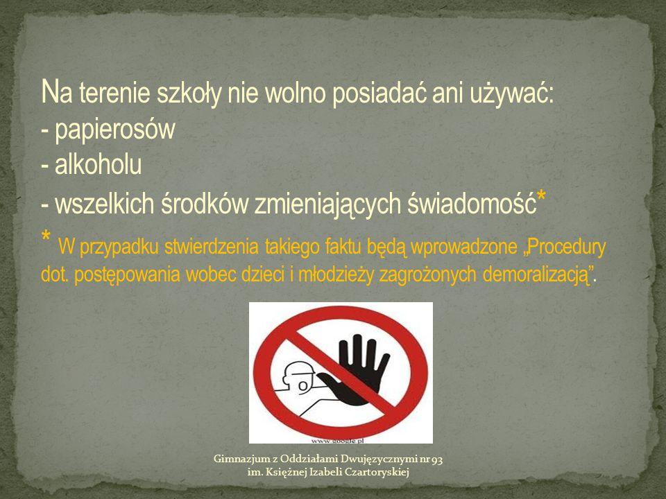 Gimnazjum z Oddziałami Dwujęzycznymi nr 93 im. Księżnej Izabeli Czartoryskiej