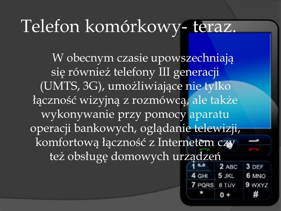 Telefon komórkowy-dawniej. Powstanie telefonu komórkowego wiąże się z wynalezieniem układów scalonych, co spopularyzowało bezprzewodową łączność radio