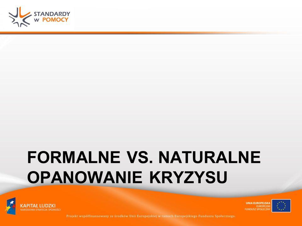 FORMALNE VS. NATURALNE OPANOWANIE KRYZYSU