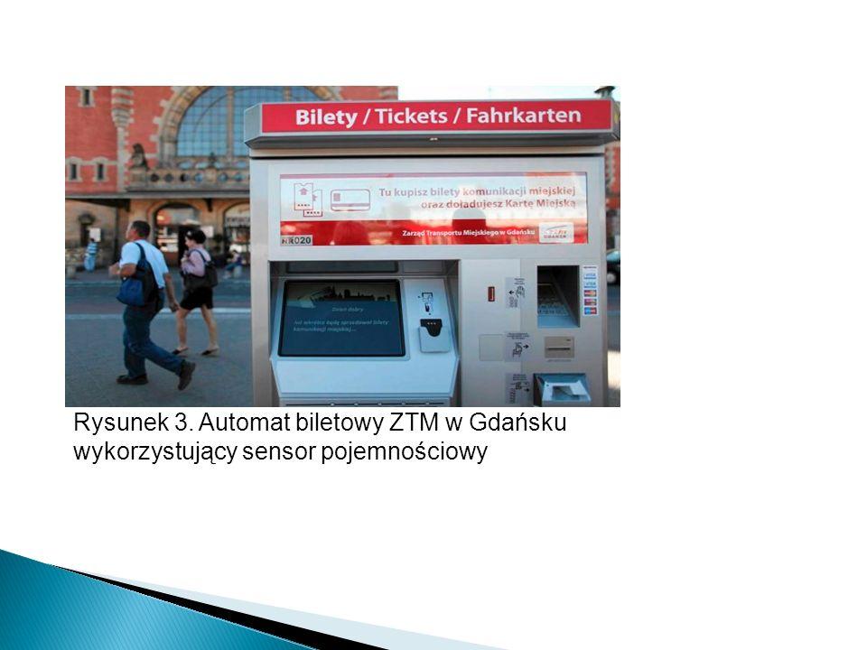 Rysunek 3. Automat biletowy ZTM w Gdańsku wykorzystujący sensor pojemnościowy