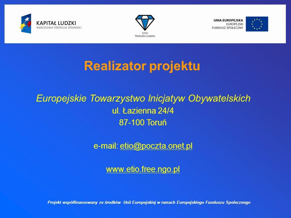 Główny cel projektu Głównym celem projektu jest wybór nowego zawodu i zdobycie nowych kwalifikacji zawodowych pozarolniczych wśród 60 rolników i domowników z 5 powiatów województwa wielkopolskiego.
