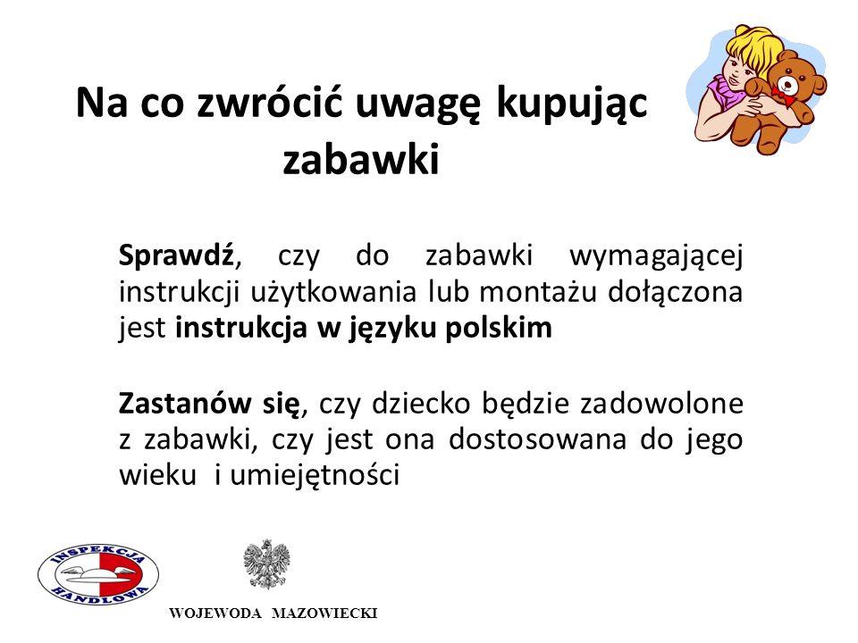 WOJEWODA MAZOWIECKI Wojewódzki Inspektorat Inspekcji Handlowej w Warszawie ul.