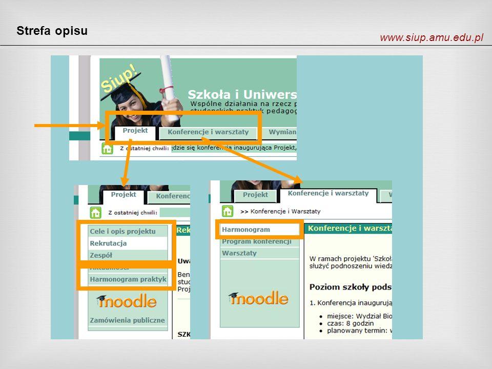 Strefa opisu www.siup.amu.edu.pl