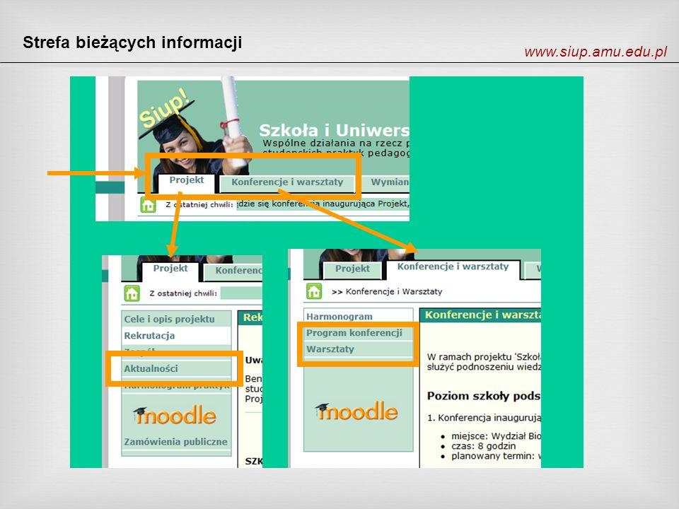 Strefa bieżących informacji www.siup.amu.edu.pl