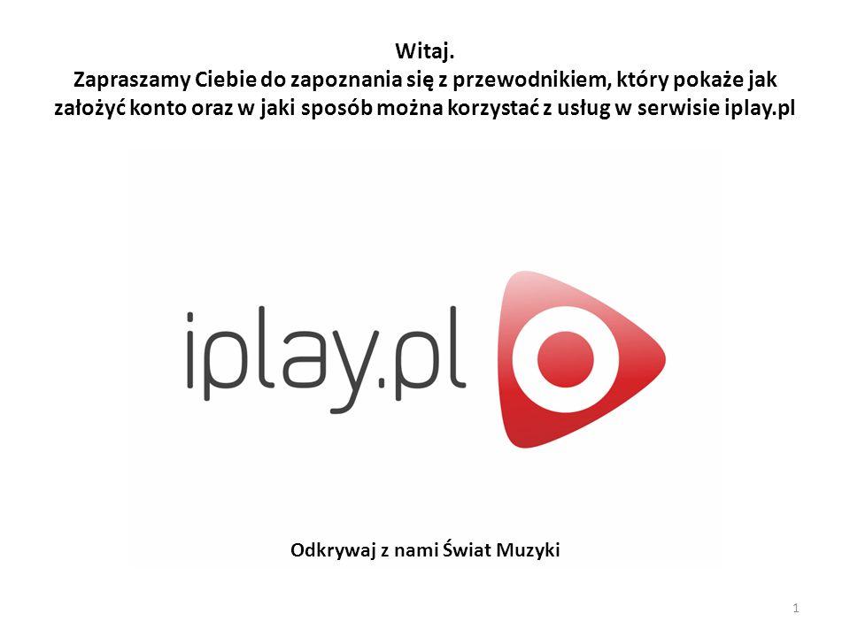 Aby założyć konto w serwisie iplay.pl wejdź na stronę serwisu, a następnie wybierz opcję załóż konto znajdującą się w prawym górnym rogu strony… I.